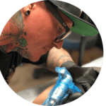 Mike Vetter doing tattoo removal
