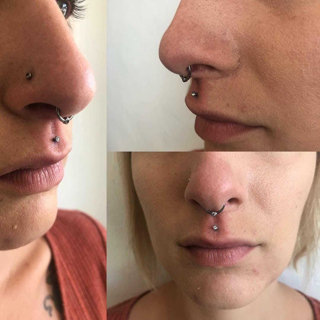 picture of a septum piercing